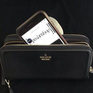 Kate Spade NWT Black Anita Wallet / Wristlet